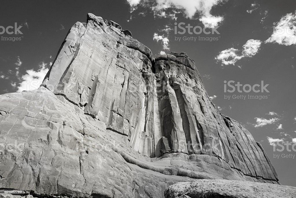 B&W The Organ rock formation stock photo