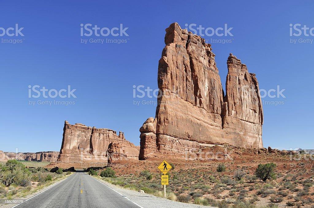 The Organ sandstone tower stock photo