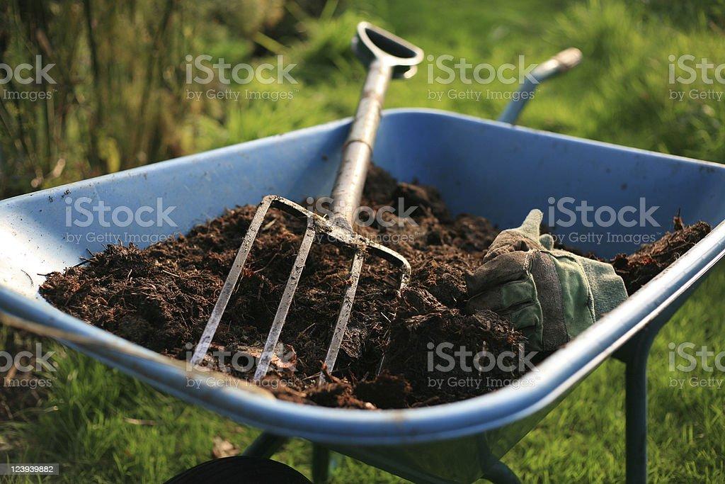 The Organic Kitchen Gardener royalty-free stock photo