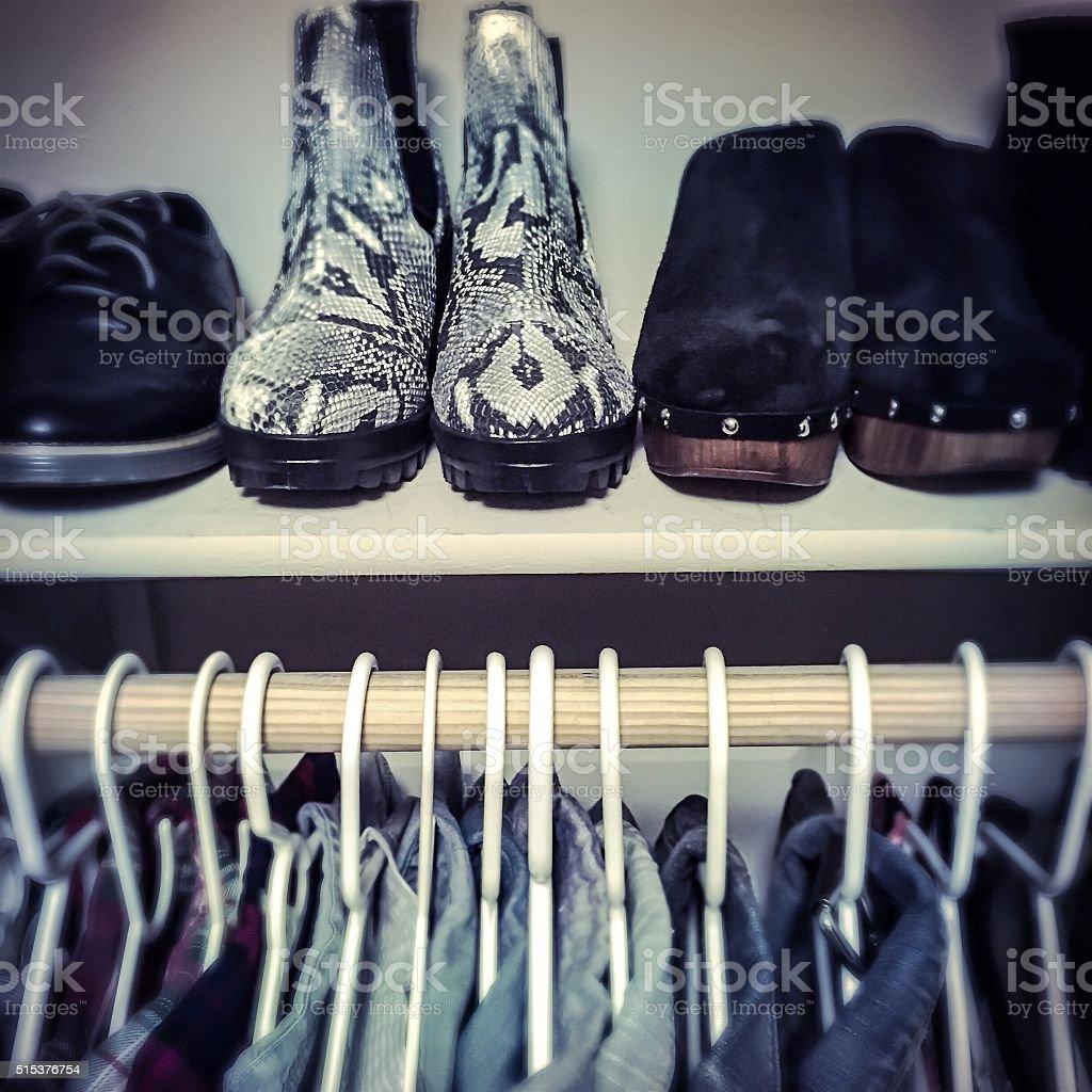 The Organized Closet stock photo