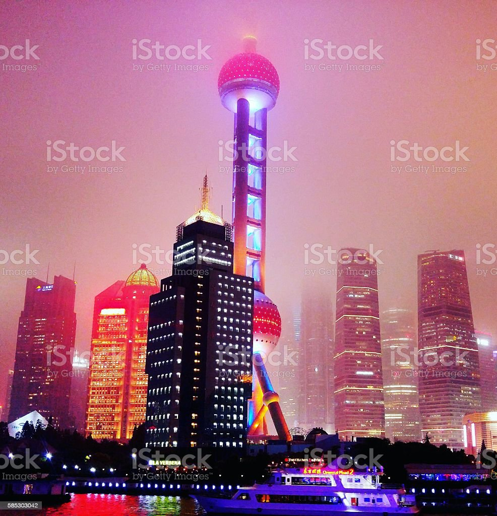 La Torre di perla orientale foto stock royalty-free