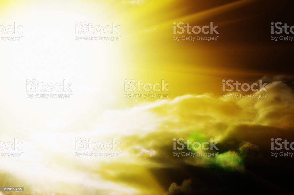 The origin of solar power: the Sun shining brightly stock photo