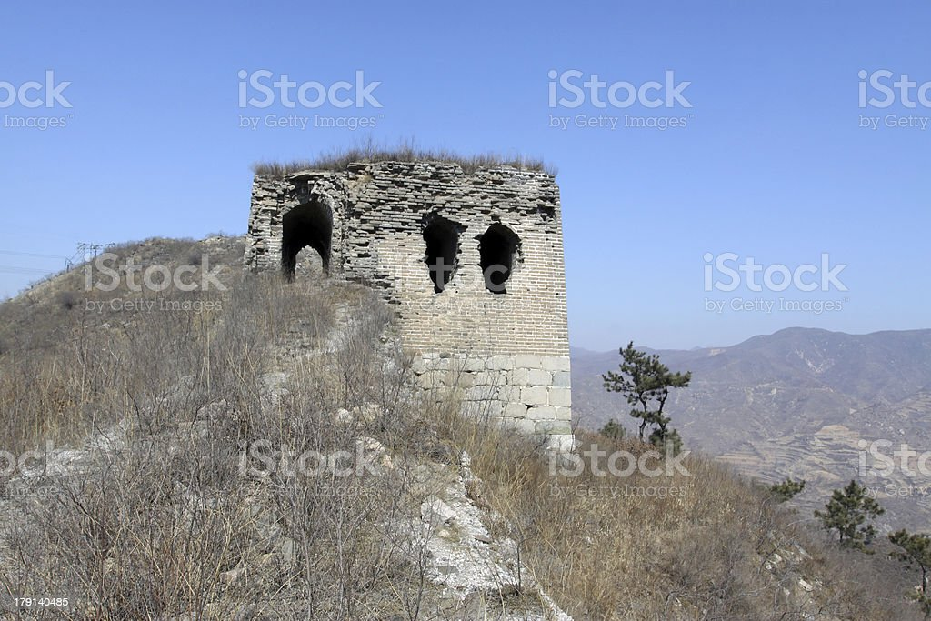 the original ecology great wall royalty-free stock photo