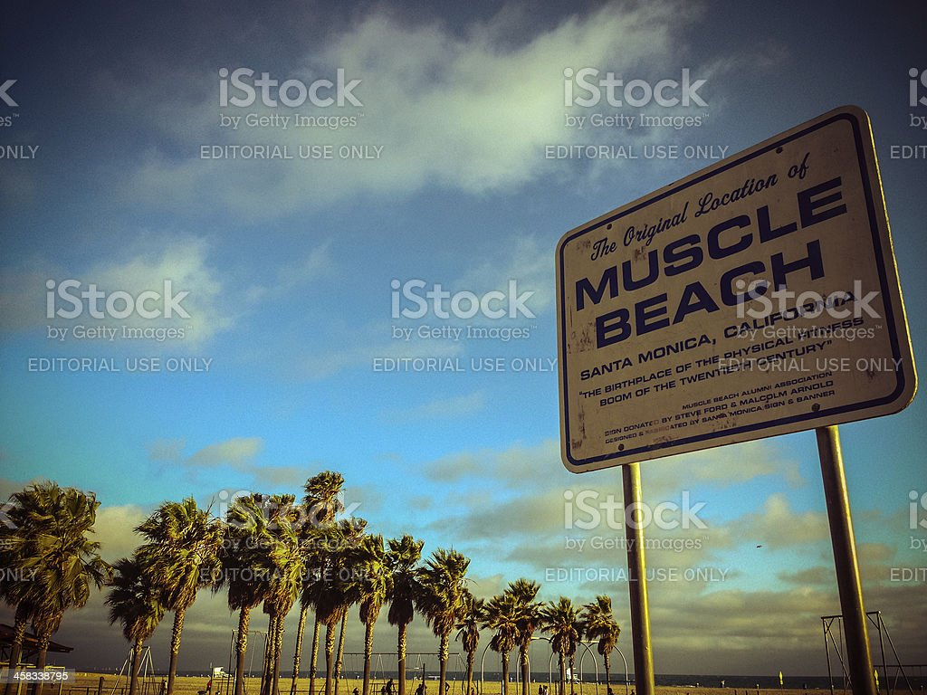 The Original Location of Muscle Beach, Santa Monica royalty-free stock photo