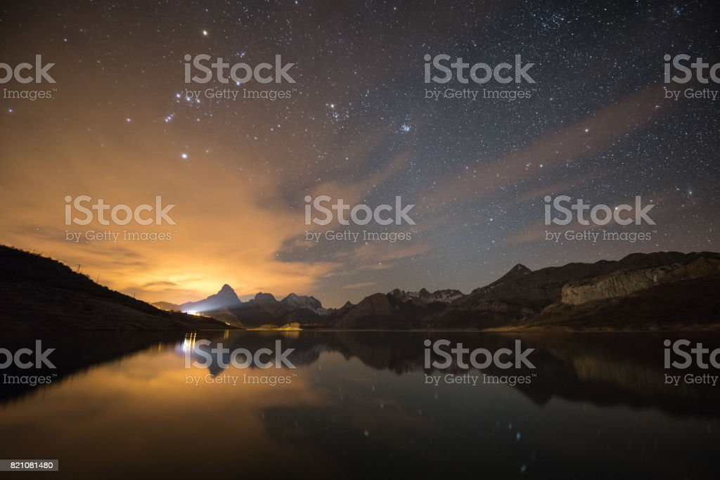 The Orion's Mirror stock photo