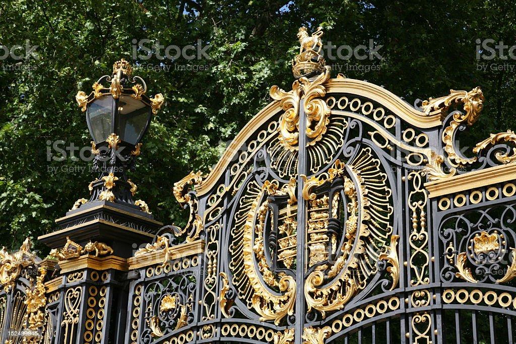 The ornate Canada Gate in London stock photo
