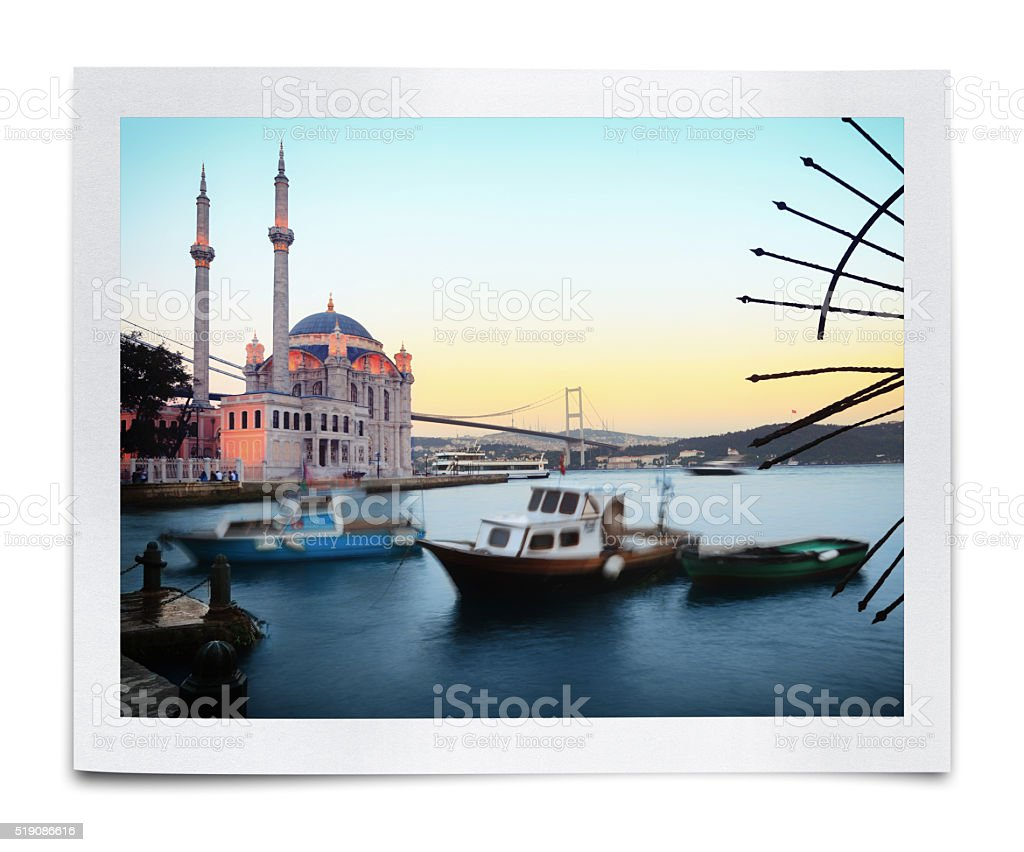 The Ortakoy Mosque Photo (Clipping Path) stock photo