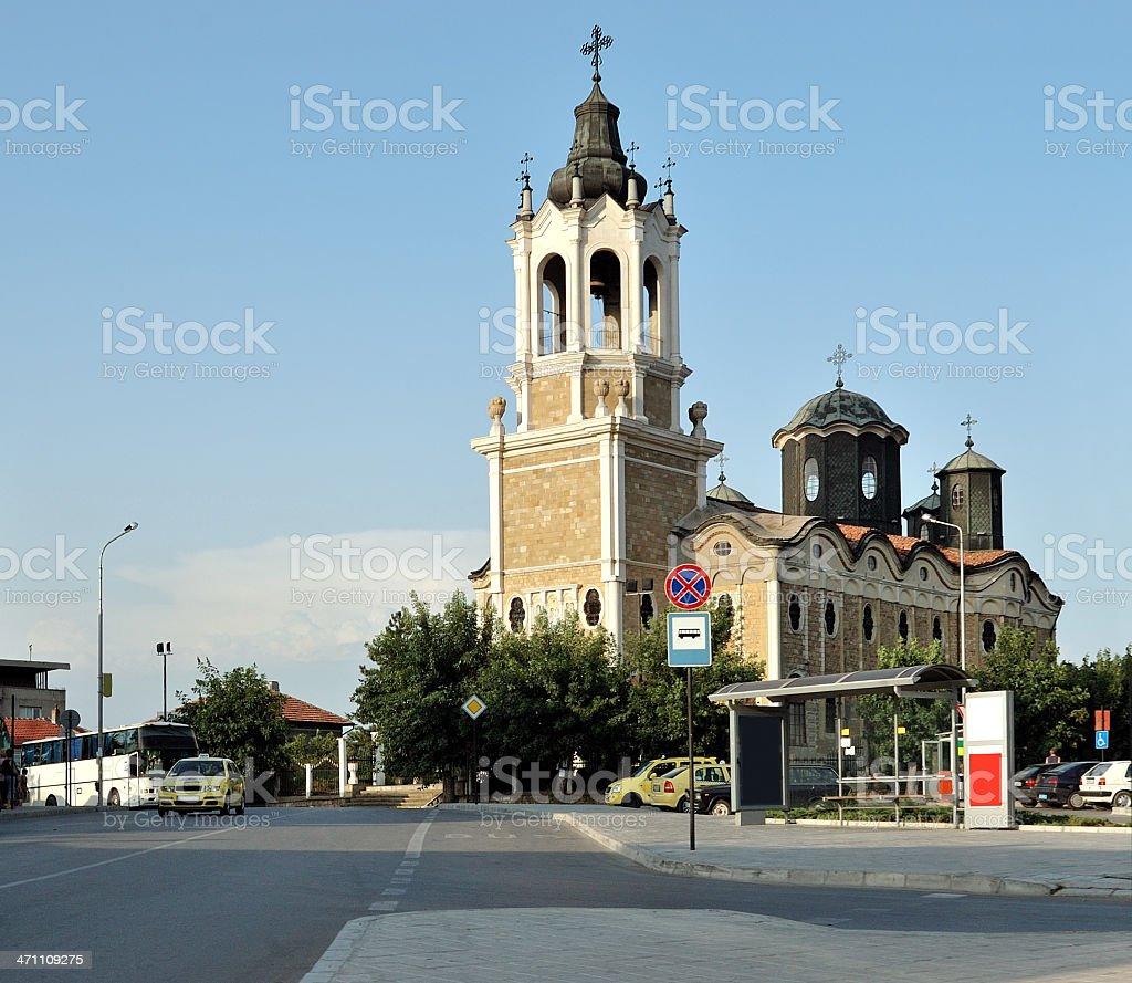 The orthodox church 'Holy Trinity' in Svistov stock photo