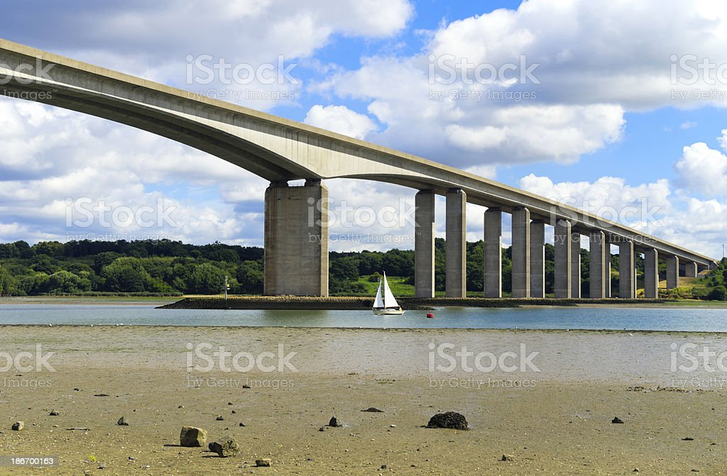 The Orwell Bridge, near Ipswich stock photo