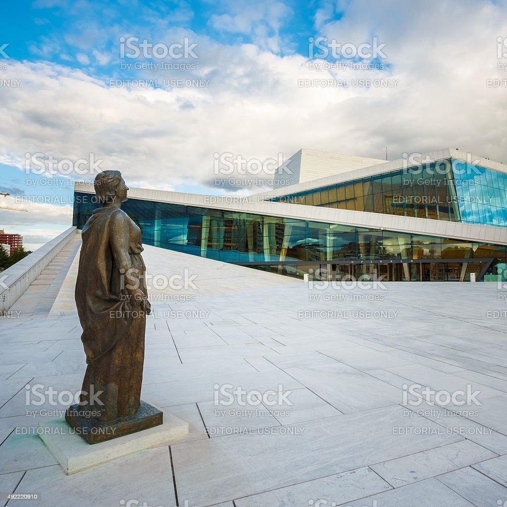 The Oslo Opera House is home of Norwegian National Opera stock photo