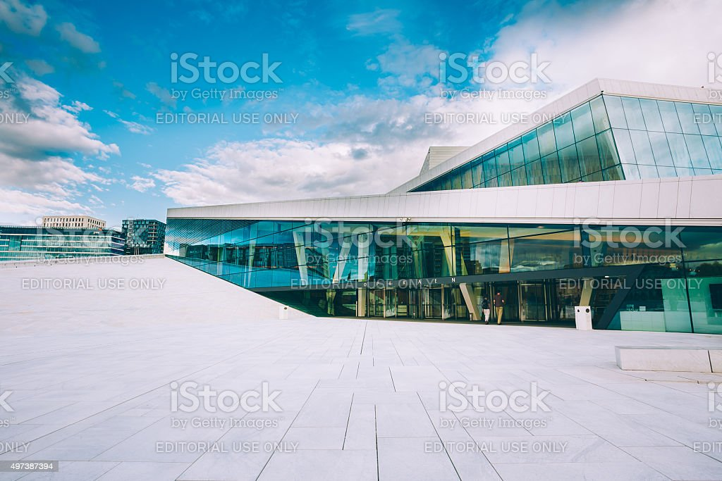The Oslo Opera House is home of Norwegian National Opera stock photo