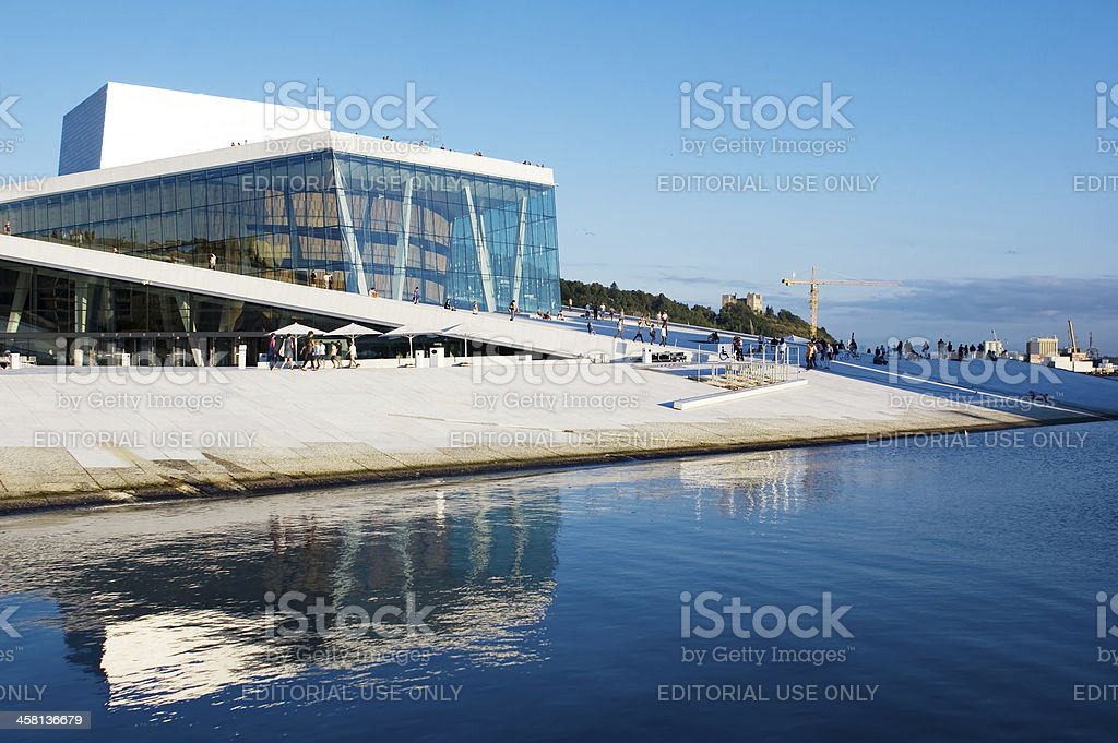 The Oslo Opera House, Norway stock photo