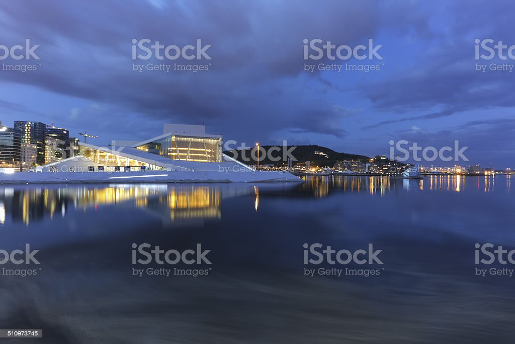 The Oslo Opera House stock photo