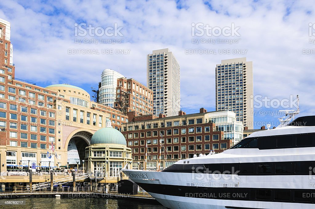 The Osyssey at Rowes Wharf royalty-free stock photo