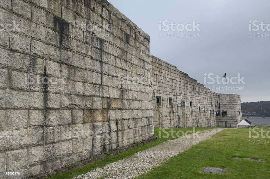 The OTHER Fort Knox  (Prospect, Maine) stock photo