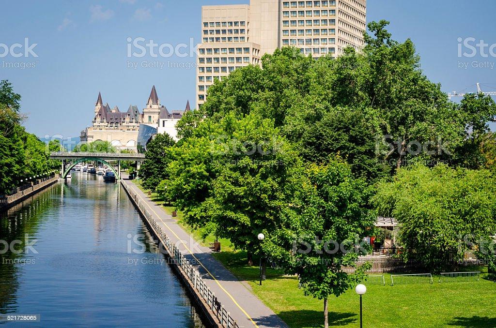 The Ottawa Rideau Canal stock photo