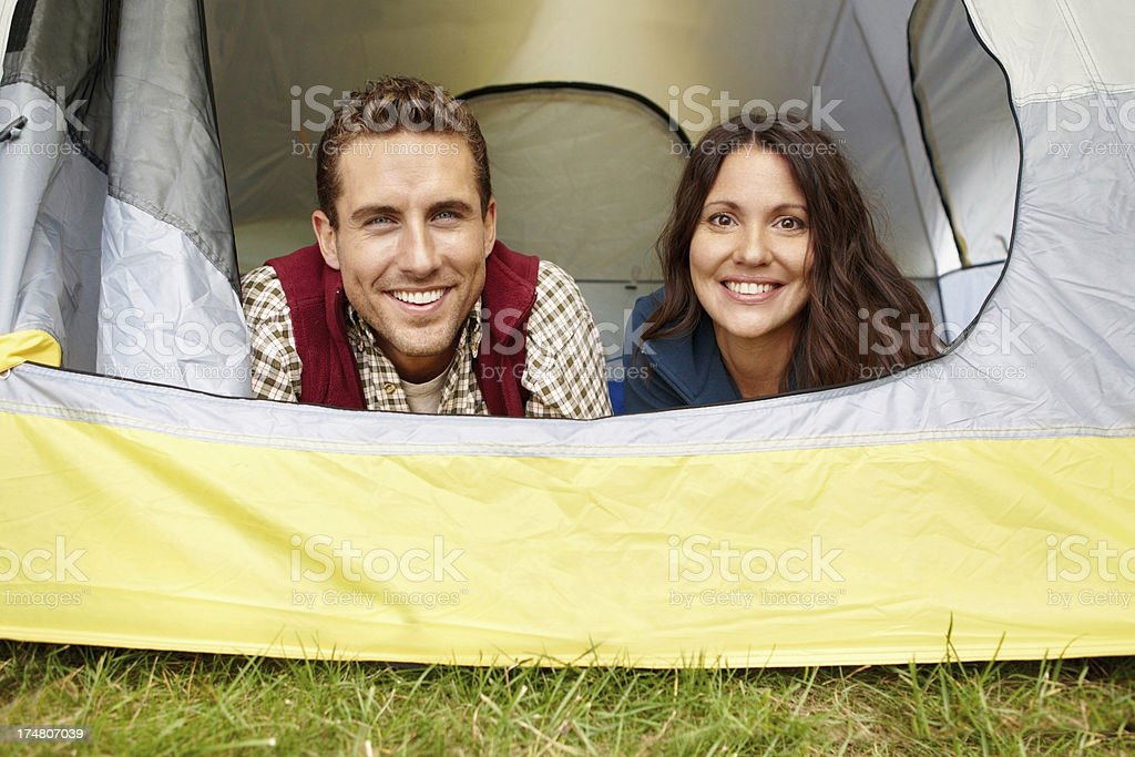 The outdoors brings us closer royalty-free stock photo