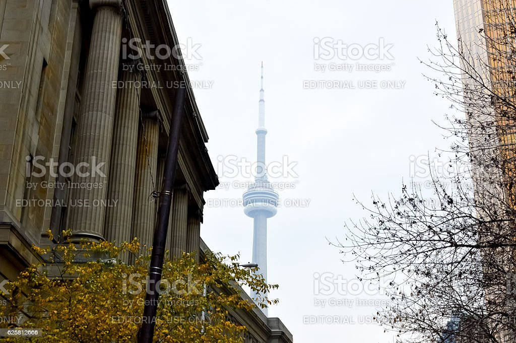 The outside of Union Station in Toronto stock photo