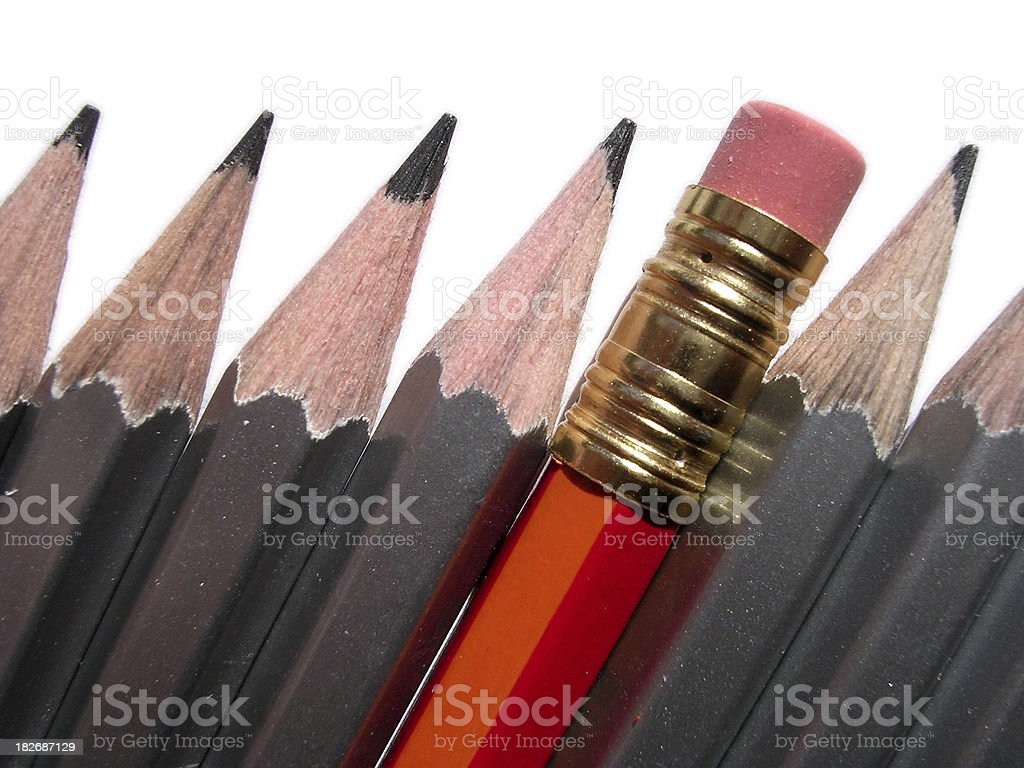The outsider - Pencils royalty-free stock photo