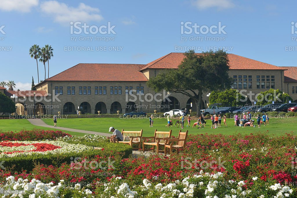 The Oval Park in Stanford University stock photo