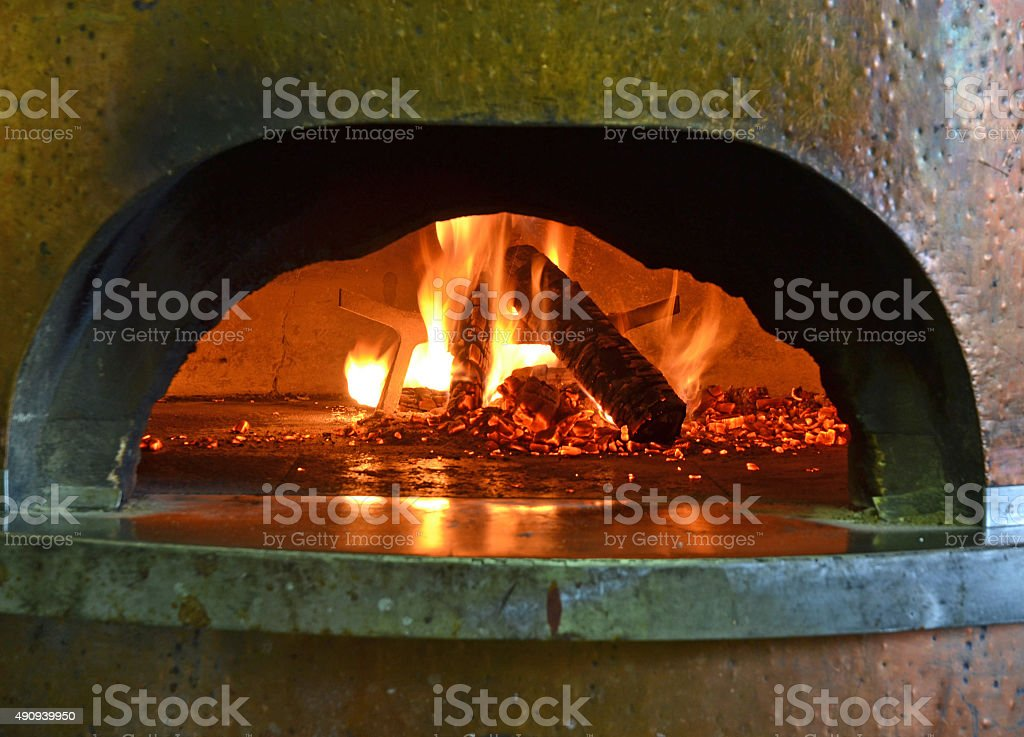 The oven. stock photo