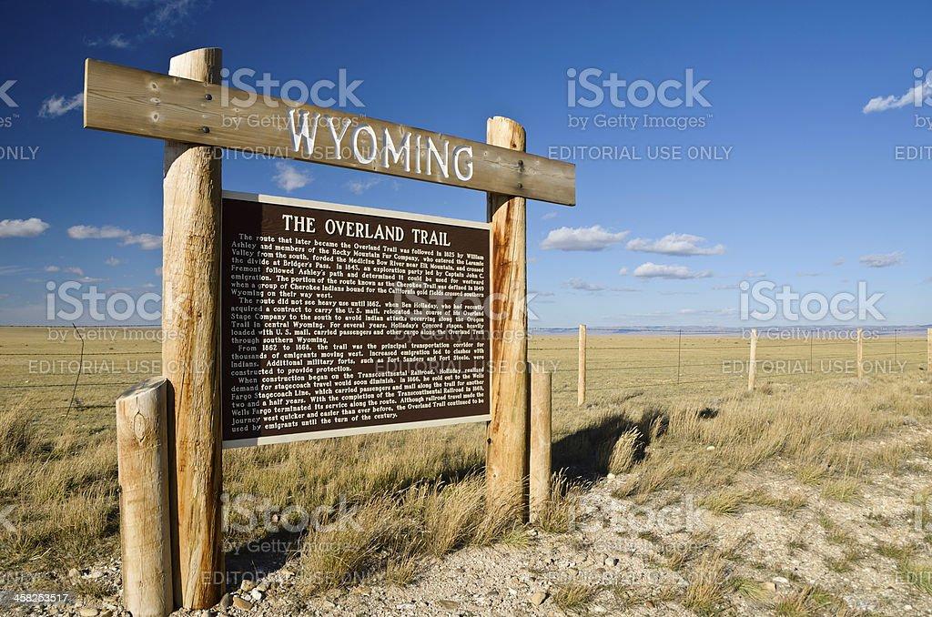 The Overland Trail, Laramie, Wyoming stock photo