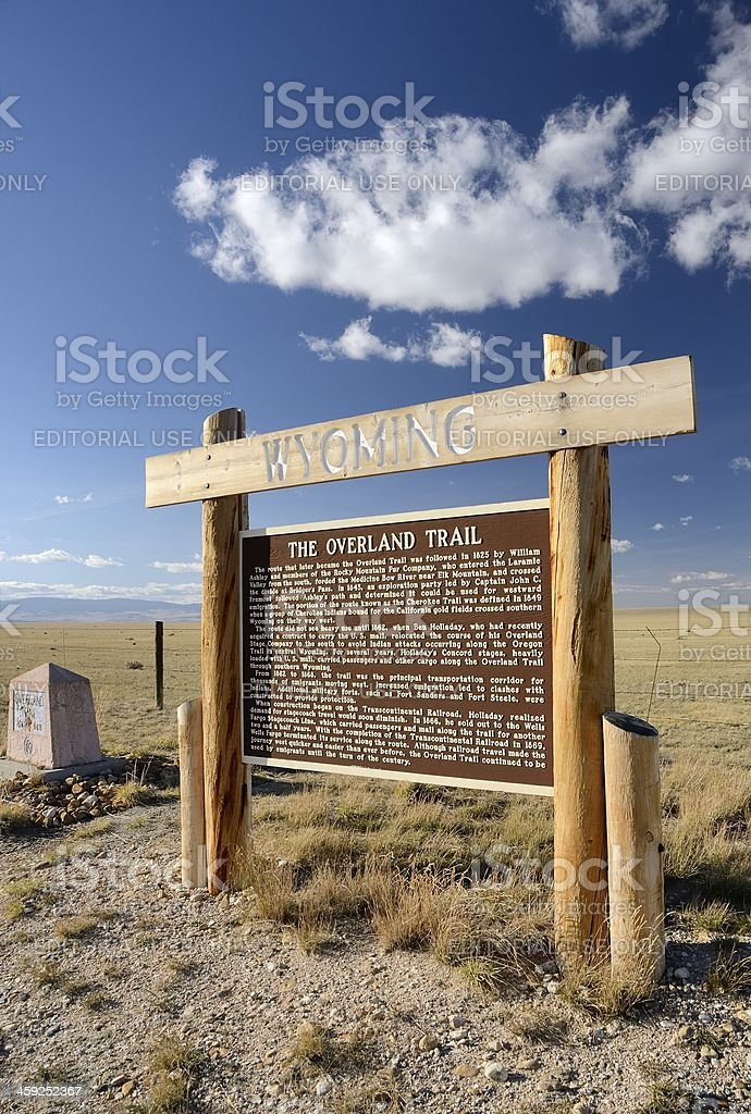 The Overland Trail stock photo