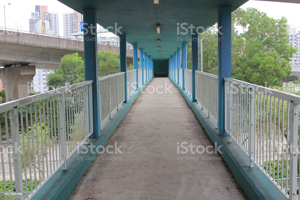 The overpass in the city stock photo