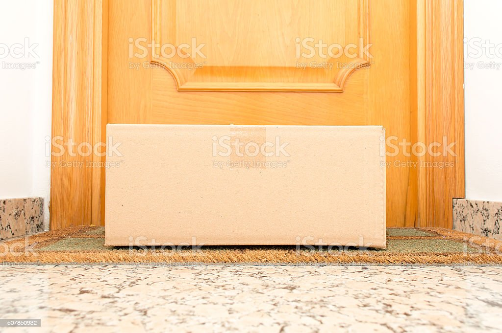 the package has arrived stock photo