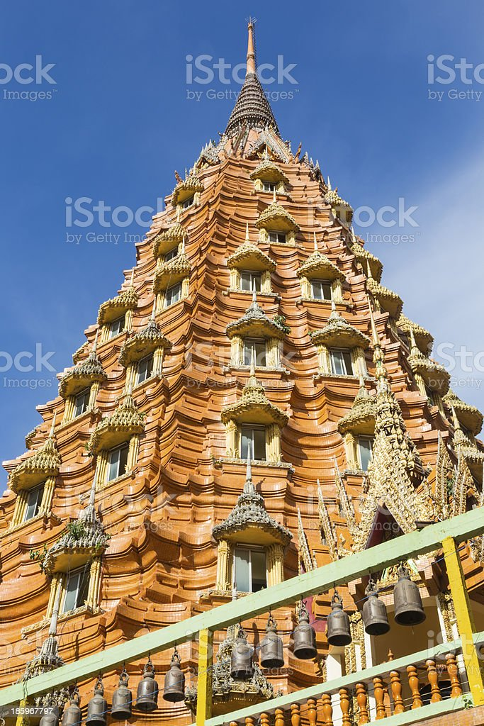 The pagoda of Wat Tham Sua in Kanchanaburi royalty-free stock photo