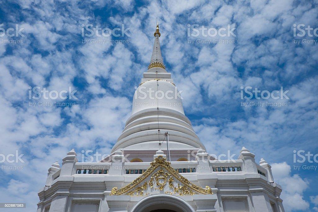 The pagoda. Wat Pichaiyat in Bangkok, Thailand royalty-free stock photo