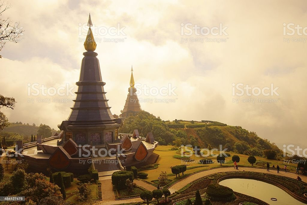 The pagodas royalty-free stock photo