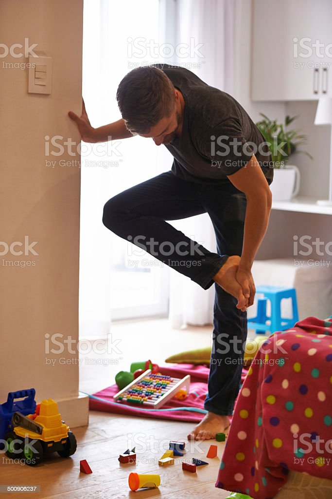 The pain of being a parent stock photo