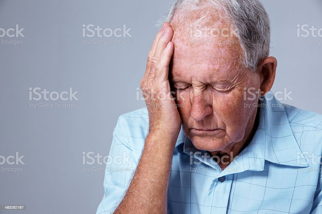 The pains of old age royalty-free stock photo