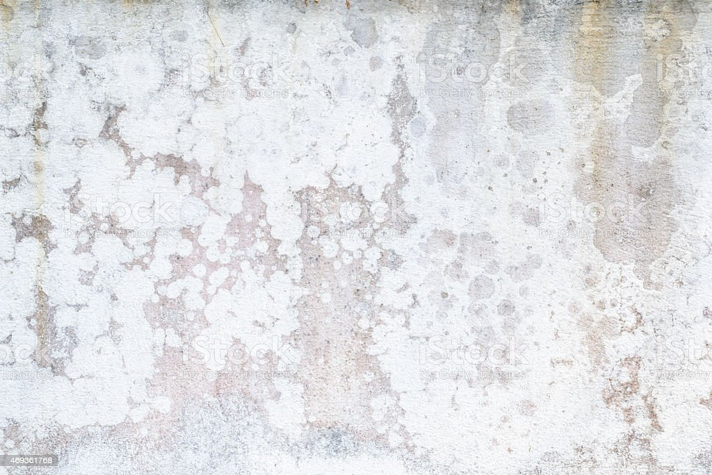 The paint is peeling off, falling apart, Damaged wall stock photo