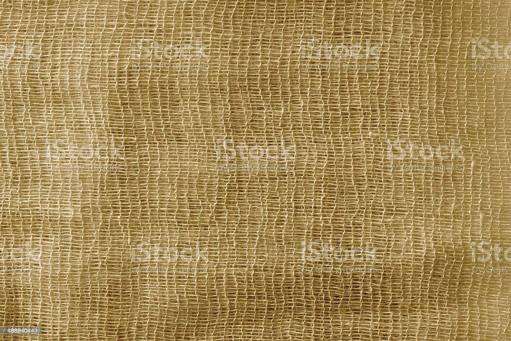 the painted gauze texture of  brown color stock photo