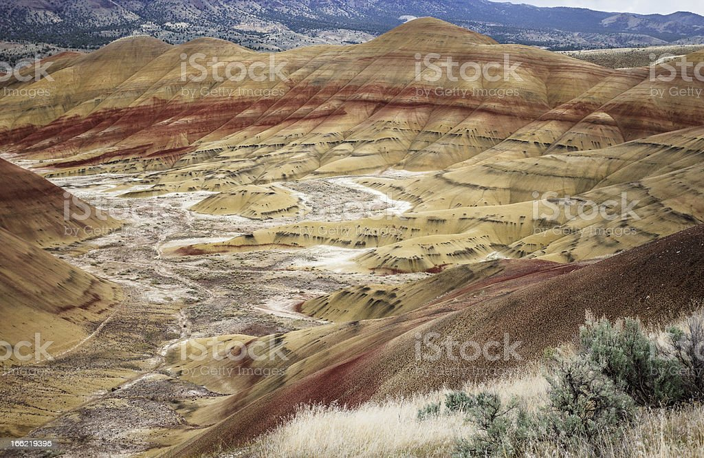 The Painted Hills of Oregon State royalty-free stock photo