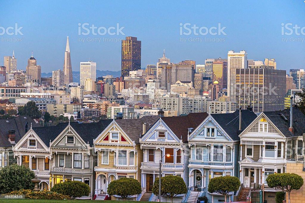 The Painted Ladies of San Francisco, California, USA stock photo