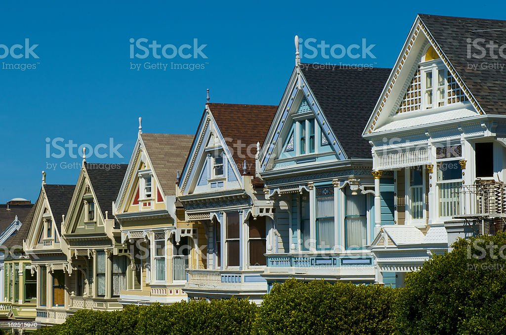 The Painted ladies of San Francisco stock photo