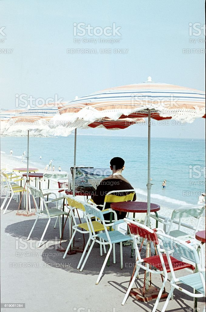 The Painter, Cote d`Azur, France stock photo