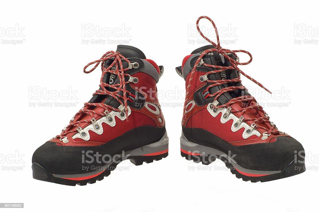 The pair of treking boots stock photo