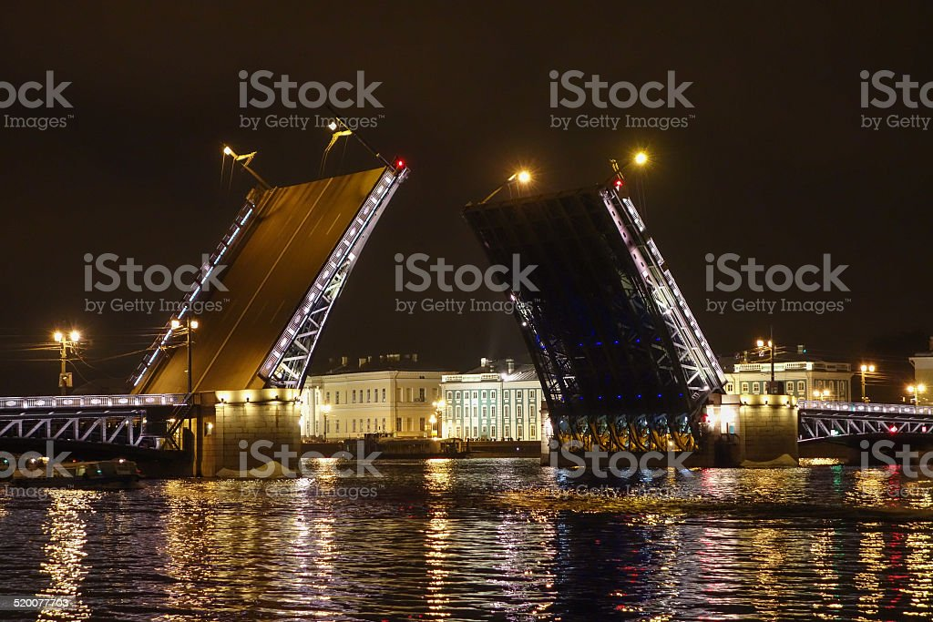 The Palace Bridge in St Petersburg Russia stock photo