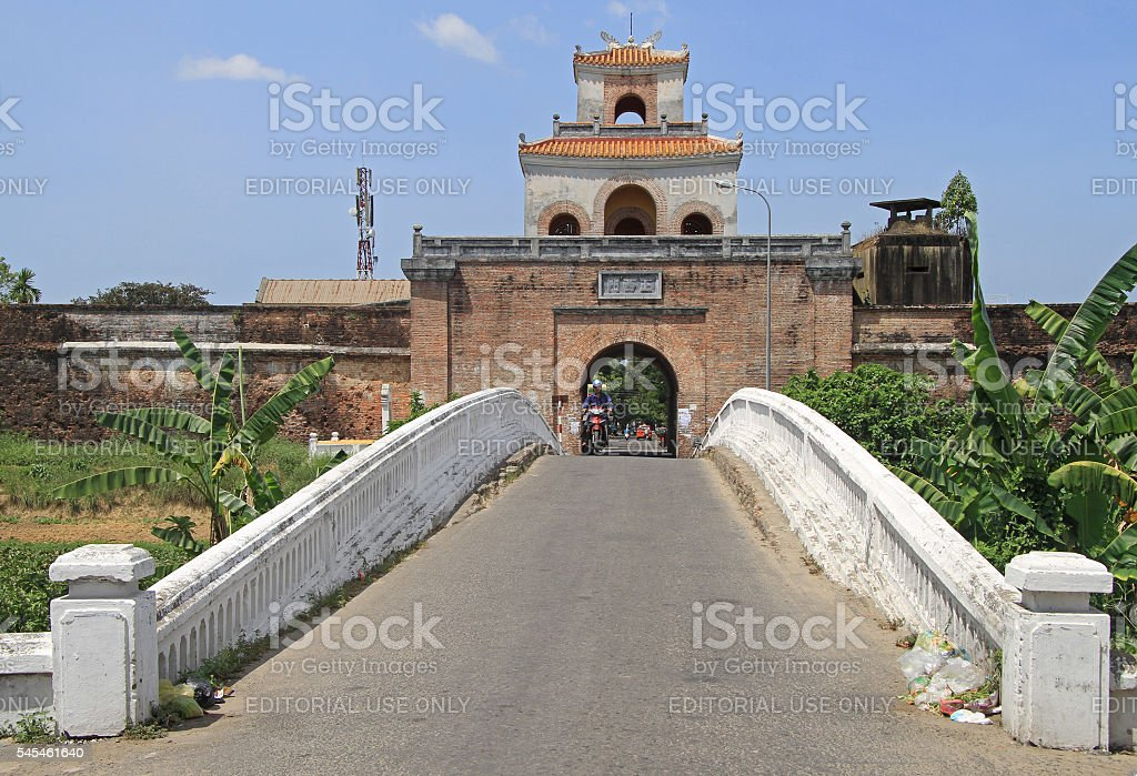 The palace gate, Imperial moat stock photo