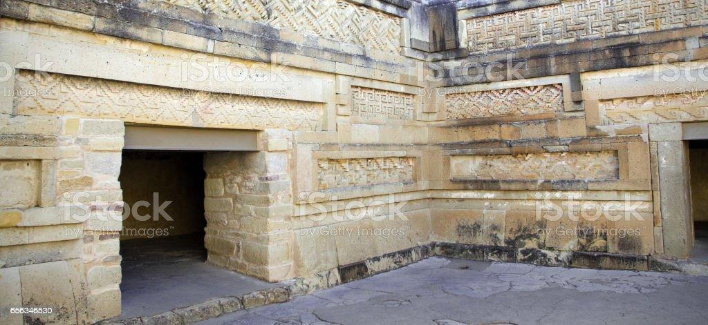 The Palace, Mitla archeological site, Oaxaca, Mexico stock photo