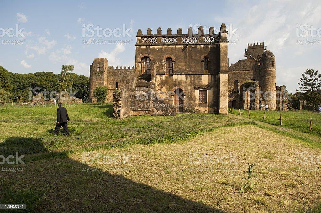 the palace of gondar, ethiopia stock photo