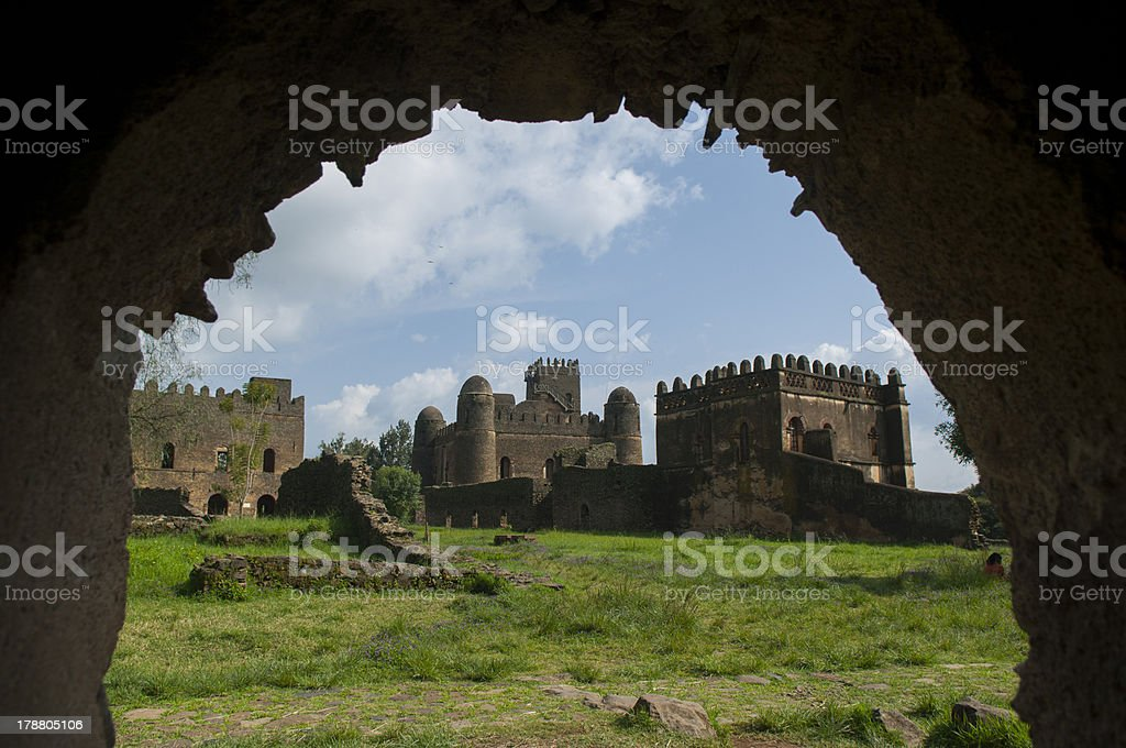 the palace of gondar, ethiopia stock photo
