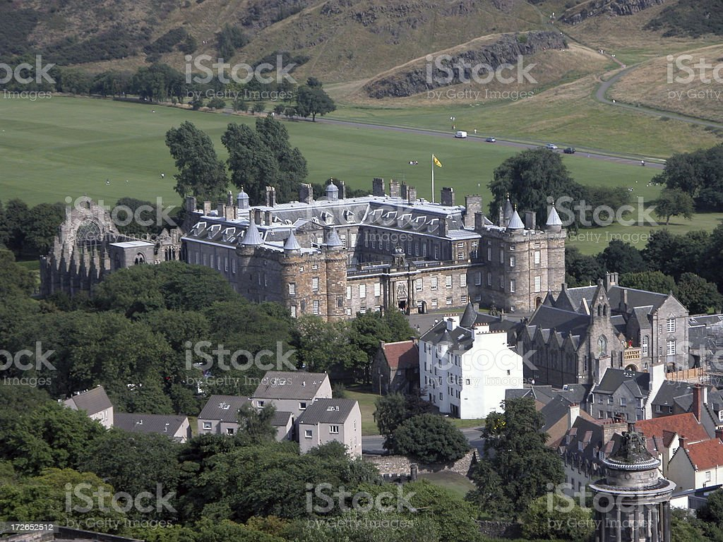 the Palace of Holyroodhouse stock photo