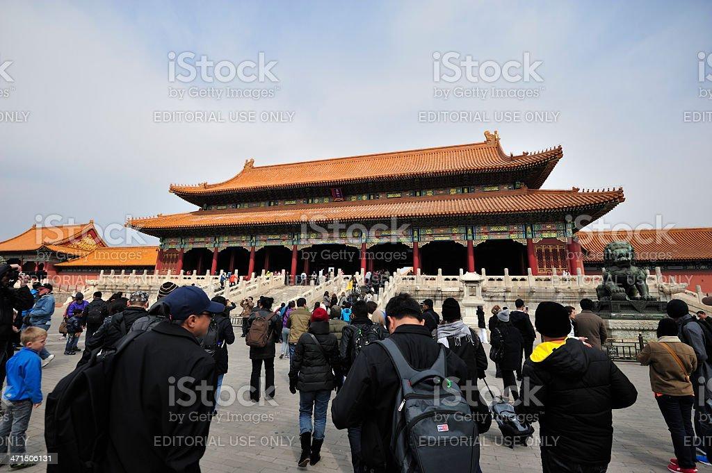 The Palace of Supreme Harmony, Beijing royalty-free stock photo