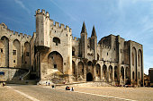 The palace of the Popes (Palais des Papes) in Avignon, France