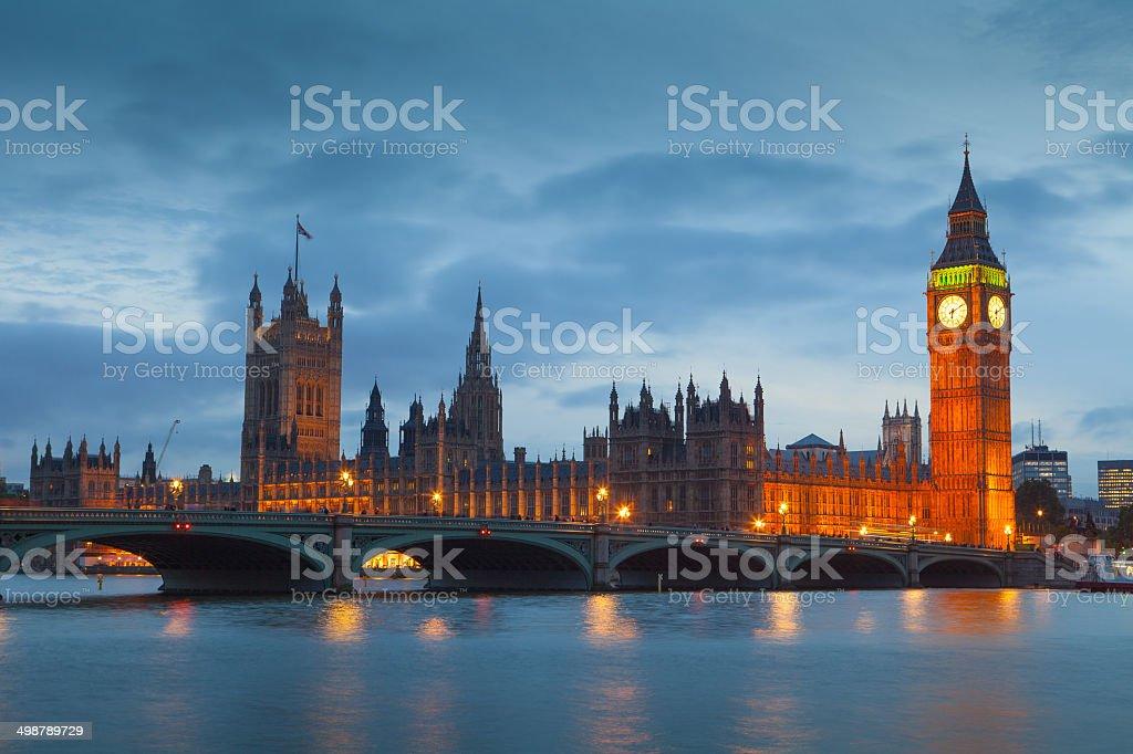 The Palace of Westminster Big Ben, London, England, UK stock photo